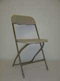 Rental store for CHAIR FOLDING PLASTIC BEIGE in Nacogdoches TX