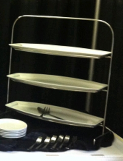 Rental store for TRAY UPRIGHT 3 TIER STAND WHTIE in Nacogdoches TX